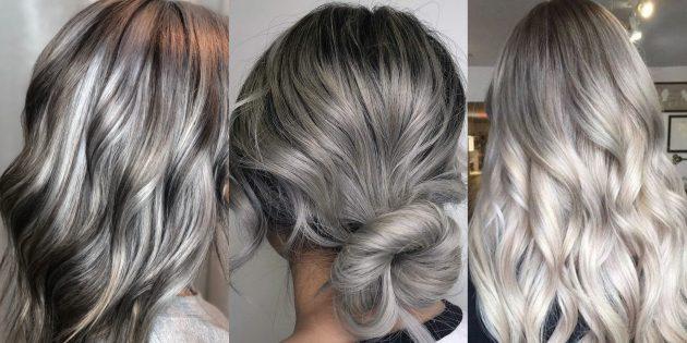 цвет волос серебро и пепел