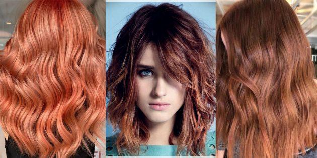 цвет волос красный